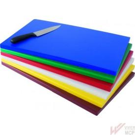 Planche à découper en polyéthylène colorée GN1/1