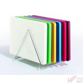 Planches à découper colorées sur support