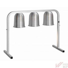 Pont chauffe plats à 3 lampes infrarouges sans bac GN
