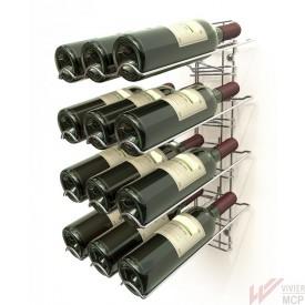 Présentoir porte 12 bouteilles de vin
