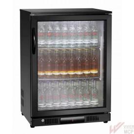 Réfrigérateur de bar à porte à battant automatique verrouillable