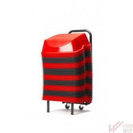 Lot de 36 rehausseurs rouges et gris cinéma pour enfant