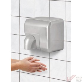 Sèche mains inox avec buse orientable