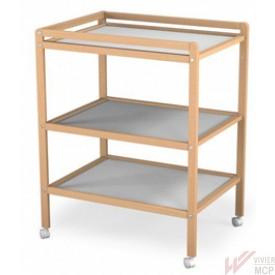 Table à langer mobile en bois