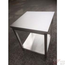 Table de travail inox 70 X 70 X 86 cm soldée