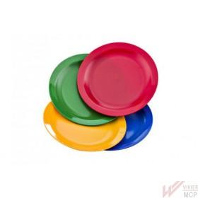 Assiettes plates colorées sans BPA