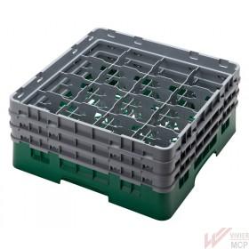 Casier de lavage 500 X 500 mm pour verres 16 compartiments