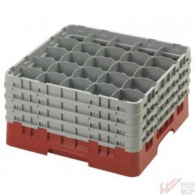 Casier de lavage 500 X 500 mm pour verres 25 compartiments