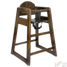 Chaise haute pour enfant, en bois sans plateau