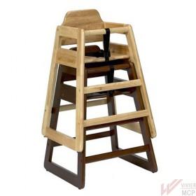 Chaise haute pour enfant sans plateau en bois