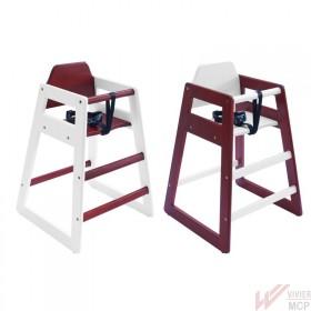 Chaise haute enfant en bois - lot de 2