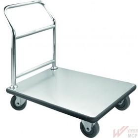 Chariot de service inox en cuisine (transport)