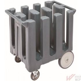 Chariot de service à assiettes à colonnes symétriques
