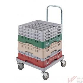 Chariot de transport pour casiers à vaisselle, conteneurs, caisses