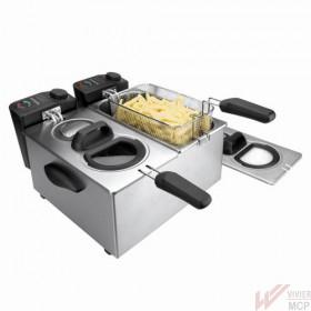 Friteuse électrique 7 litres double bacs