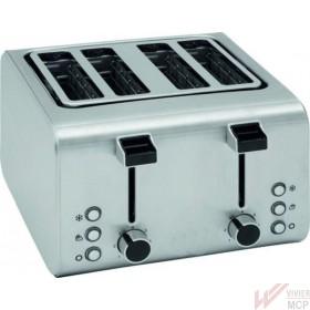 Grille pain inox à 4 compartiments