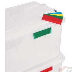 Plaques signalétiques pour bac de stockage alimentaire