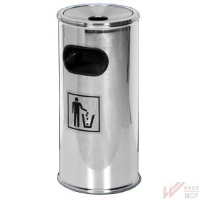 Cendrier sur poubelle inox