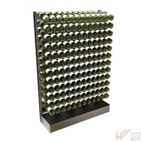 Présentoir porte bouteilles de vin de 75cl à grande capacité