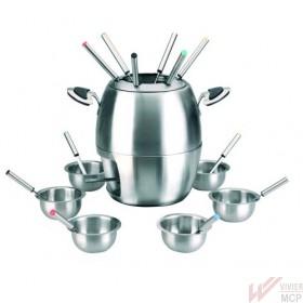 Service à fondue inox complet
