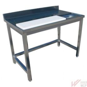 Table de préparation inox pour viande ou poisson