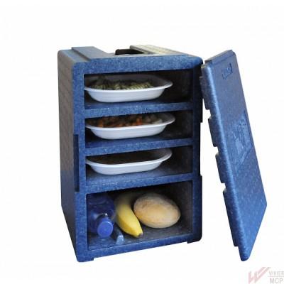 Caisson pour portage de repas à domicile