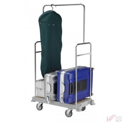 Chariot porte bagages à 1 niveau + penderie