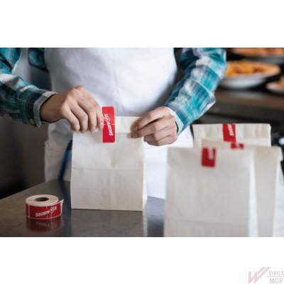 Étiquette de sécurité alimentaire pour plats à emporter